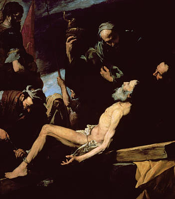 Tied-up Painting - The Martyrdom Of Saint Andrew by Jusepe de Ribera