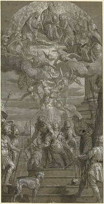 Paolo Caliari Veronese Drawing - The Martyrdom Of Saint Justina Paolo Veronese Paolo by Litz Collection