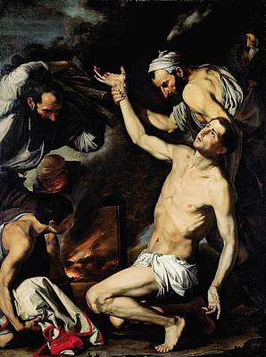 Burning Man Painting - The Martyrdom Of Saint Lawrence by Jusepe de Ribera