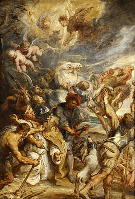 Famous Horse Art Painting - The Martyrdom Of Saint Livinus by Peter Paul Rubens