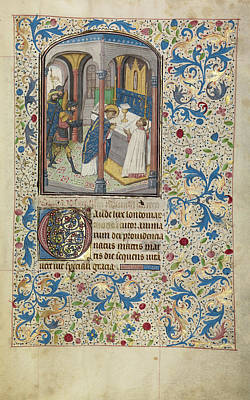 Thomas Becket Drawing - The Martyrdom Of Saint Thomas Becket Willem Vrelant by Litz Collection