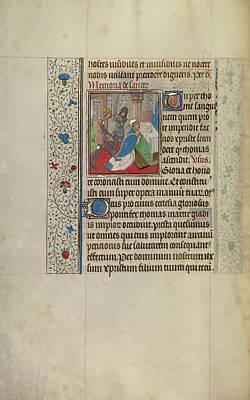 Thomas Becket Drawing - The Martyrdom Of Saint Thomas Becket Workshop Of Willem by Litz Collection