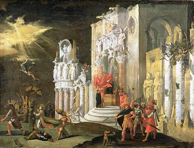 Bride Of Christ Painting - The Martyrdom Of St. Catherine, 17th by Monsu Desiderio