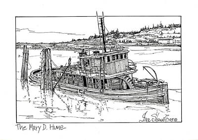 The Mary D. Hume Art Print by Ira Shander