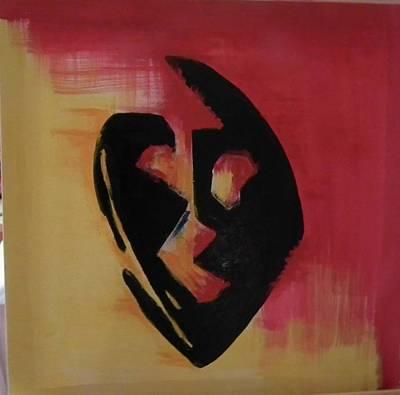 The Mask Art Print by Faria  Ehsan