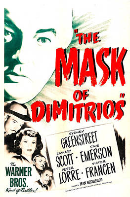 The Mask Of Dimitrios, Us Poster Art Print by Everett