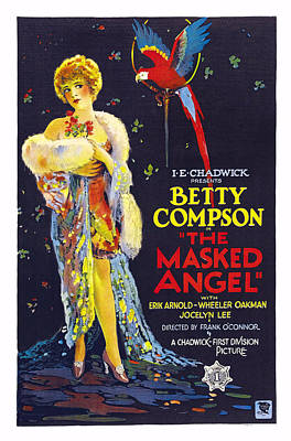 1920s Movies Photograph - The Masked Angel, Us Poster, Betty by Everett