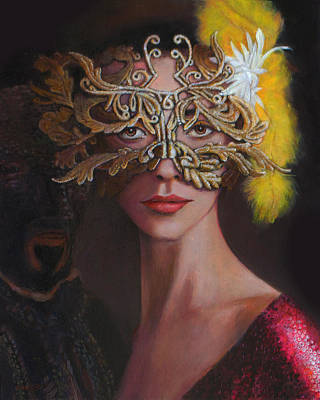 The Masked Ball Art Print by Charles Wallis