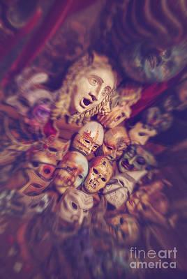 Voodoo Shop Wall Art - Photograph - The Masks Shop Window by Danilo Piccioni