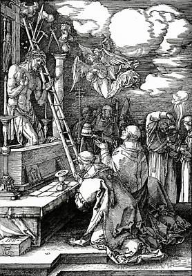Crucifix Painting - The Mass Of St. Gregory by Albrecht Duerer