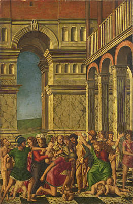 Painting - The Massacre Of The Innocents by Girolamo Mocetto