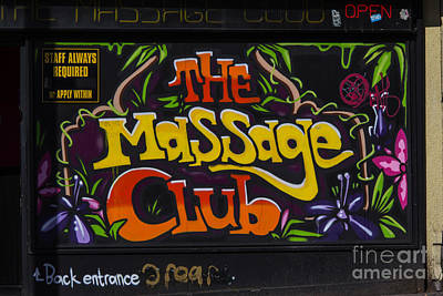 Photograph - The Massage Club by Brian Roscorla