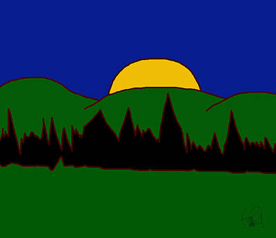 Luis Drawing - The Master Of Landscapes Sunset by Sir Josef - Social Critic - ART