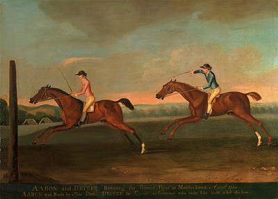 1754 Painting - The Match Between Aaron And Driver At Maidenhead by Litz Collection