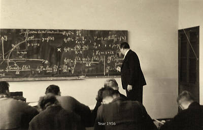 Year 1956 The Math Teacher  Art Print