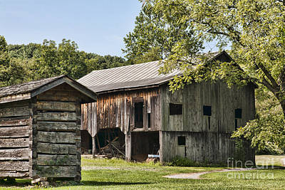 Photograph - The Mathias Homestead Built In 1797 At Mathias West Virginia by William Kuta