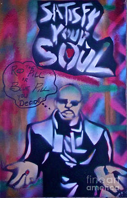 The Matrix Painting - The Matrix Pink  by Tony B Conscious