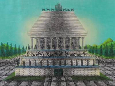 The Mausoleum Of Halicarnassus Art Print