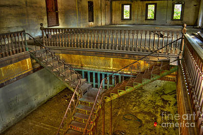 Photograph - The Maxeys Store Iron Stairway by Reid Callaway