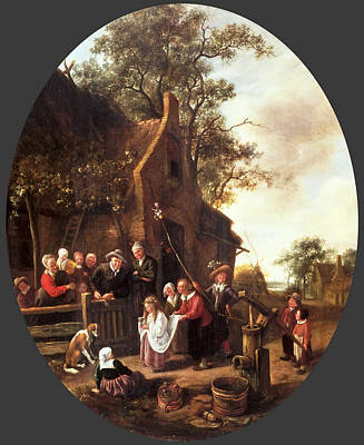 Painting - The May Queen by Jan Steen