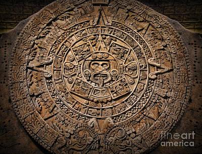 The Mayan Calendar Art Print by Lee Dos Santos