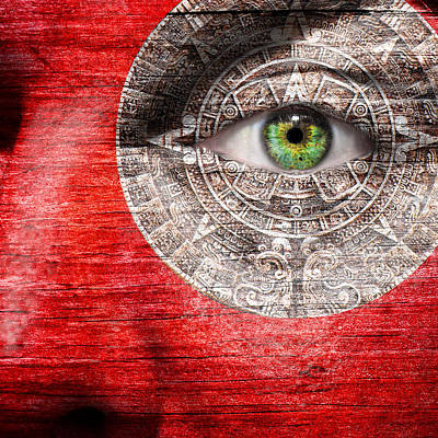 Photograph - The Mayan Eye by Semmick Photo