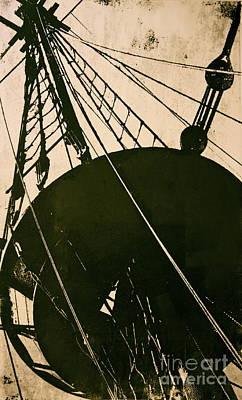Mayflower Mixed Media - The Mayflower by Deborah Talbot - Kostisin