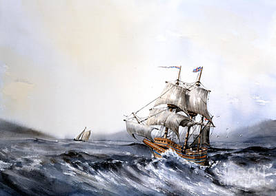 Painting - F 822 The Mayflower by Val Byrne