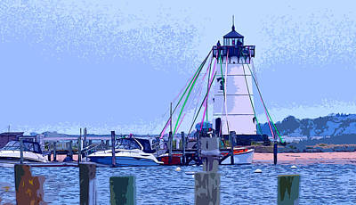 New England Lighthouse Painting - The Maypole by Kirt Tisdale