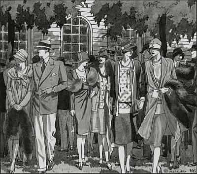 Male Likeness Digital Art - The Meadow Brook Club After A Polo Match by Pierre Mourgue