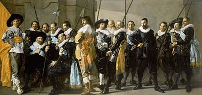 Netherlands Painting - The Meagre Company by Frans Hals