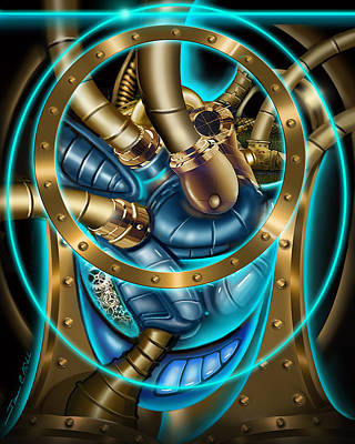 Loop Painting - The Mechanical Heart by James Christopher Hill