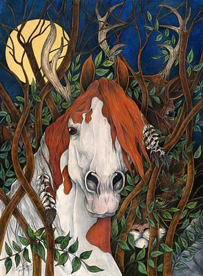 Mystical Landscape Painting - The Medicine Hat by Leslie Zantow