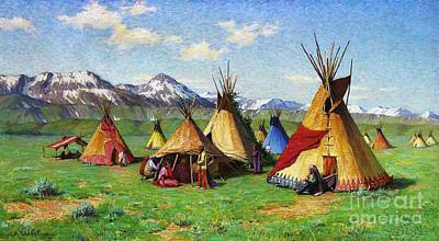 The Medicine Teepee Art Print by Pg Reproductions