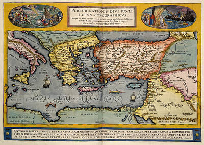 Cartography Photograph - The Mediterranean Region by British Library
