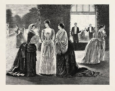 Cartoonist Drawing - The Meeting, 1888 Engraving by Du Maurier, George L. (1834-97), English