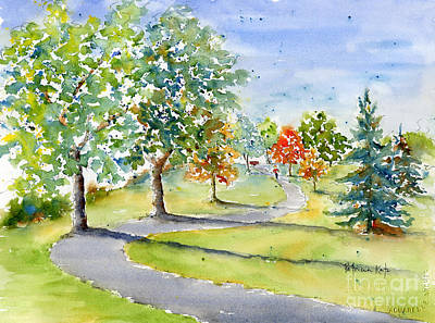 Painting - The Meewasin Trail by Pat Katz