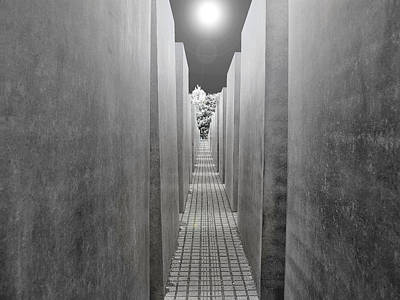 Photograph - The Memorial To The Murdered Jews Of Europe. Berlin by Digital Photographic Arts