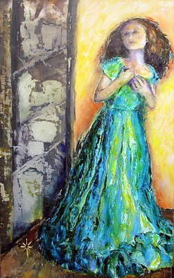Painting - The Memory Moment Knife Painted Oil by Jodie Marie Anne Richardson Traugott          aka jm-ART