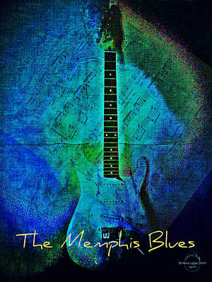 Digital Art - The Memphis Blues by Absinthe Art By Michelle LeAnn Scott