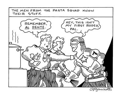 The Men From The Pasta Squad Know Their Stuff Art Print