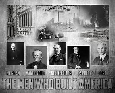Ford Automobiles Digital Art - The Men Who Built America by Peter Chilelli