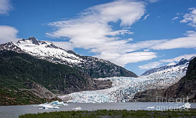 Photograph - The Mendenhall Glacier On A Blue Sky Day by Gerda Grice