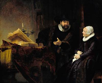 Berlin Germany Painting - The Mennonite Preacher Anslo And His Wife by Rembrandt van Rijn