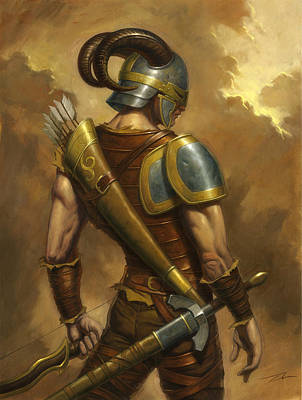 Elven Digital Art - The Mercenary by Alan Lathwell