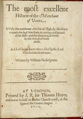 The Merchant Of Venice Art Print
