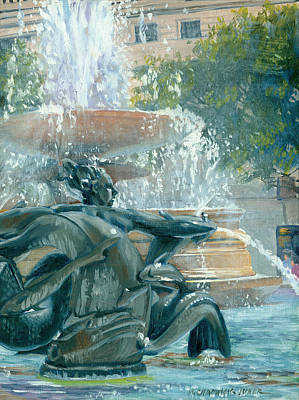 Painting - The Mermaid Of Trafalgar Square by Marguerite Chadwick-Juner