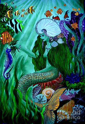 The Mermaid Art Print by Sylvie Heasman