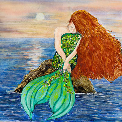 The Mermaid's Thoughts Original by Susy Soulies