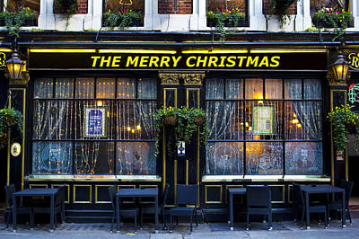 Photograph - The Merry Christmas Pub by David Pyatt